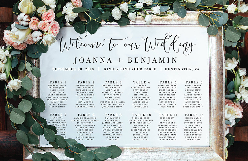 Wedding Table Plan Printing All Wedding Stationery Print It Cheshire